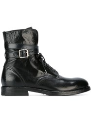 Officine Creative Military Boots Black