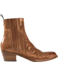 Sartore Patterned Cowboy Style Boots