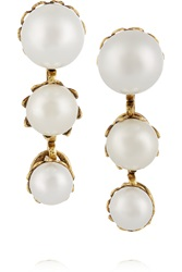 Erickson Beamon Pearly Queen Gold Plated Faux Pearl Earrings