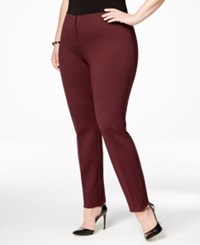 Alfani Plus Size Comfort Waist Skinny Pants Only At Macy's Maroon