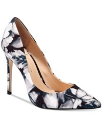 Daya By Zendaya Atmore Pointed Toe Pumps Women's Shoes Black White Floral