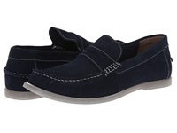 Bass Keane Navy Suede Men's Slip On Shoes Blue