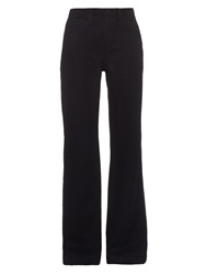 Nlst Wide Leg Wool And Cashmere Blend Trousers