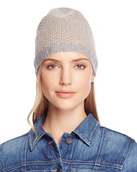Bloomingdale's C By Cashmere Honeycomb Slouch Hat 100 Exclusive Oatmeal Gray