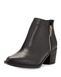 Steve Madden Dacy Leather Ankle Boot Black