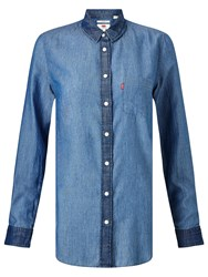 Levi's Modern One Pocket Denim Shirt Medium Bright