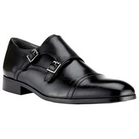 John Lewis Kin By Nick Double Buckle Monk Shoes Black