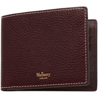 Mulberry Eight Card Natural Grain Leather Wallet Oxblood