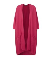 Harrods Of London Longline Cashmere Cardigan Female Pink