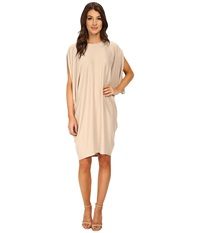 Bcbgmaxazria Monet Asymmetrical Draped Dress Vintage Light Stone Women's Dress Beige