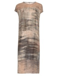 Raquel Allegra Sunset Tie Dye Silk Dress