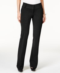 Alfani Petite Faux Leather Trim Wide Leg Trousers Only At Macy's Deep Black
