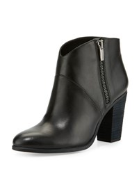 Vince Camuto Felise Leather Suede Heel Bootie Black