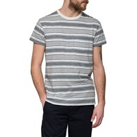 Grayers Grey Cream Stripe T Shirt