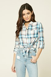 Forever 21 Tartan Plaid Collared Shirt