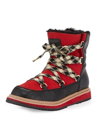 Samira Lace Up Leather Boot Ivory Black Red Kate Spade New York