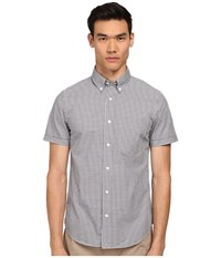 Jack Spade Maddox Gingham Shirt Grey Men's Short Sleeve Button Up Gray