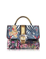 Paula Cademartori Petite Faye Monkey Multicolor Leather Shoulder Bag