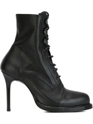 Ann Demeulemeester Blanche Stiletto Hell Laced Boots Black