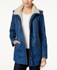 Styleandco. Style Co. Sherpa Collar Anorak Jacket Only At Macy's Indigo Wash