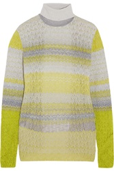 Missoni Cashmere Blend Turtleneck Sweater Gray