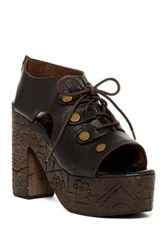 Free People Farriah Platform Lace Clog Black