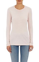 Barneys New York Crewneck Long Sleeve T Shirt Pink