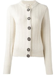 Marc Jacobs Embellished Button Cardigan White