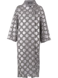 Dolce And Gabbana Dotted Brocade Coat Black
