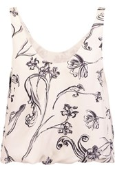 3.1 Phillip Lim Printed Silk Satin Top Lilac