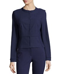 Zac Posen Tori Long Sleeve Jacket Navy