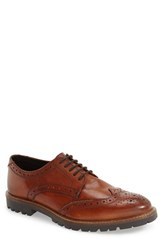 Base London Men's 'Trench' Wingtip Tan Leather