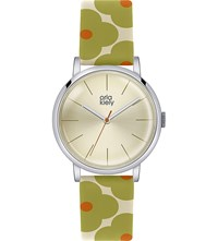 Orla Kiely Ok2035 Patricia Leather And Stainless Steel Watch Champagne
