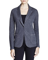 Majestic Double Face Knit Blazer Anthracite Gris
