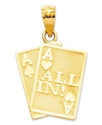 Macy's 14K Gold Charm Ace Of Hearts And Spades All In Charm