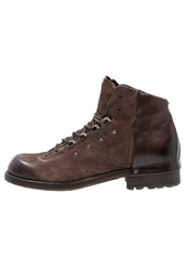 A.S.98 Shield Laceup Boots Choco Dark Brown