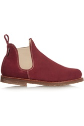 Penelope Chilvers Shearling Lined Suede Ankle Boots