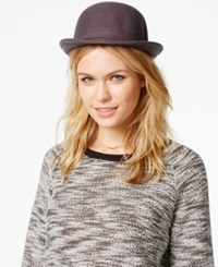 Bcbgeneration Heart Charm Bowler Hat Heather Grey