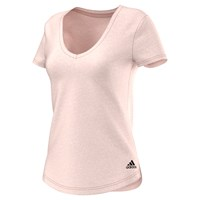 Adidas Cross Training V Neck T Shirt Pink