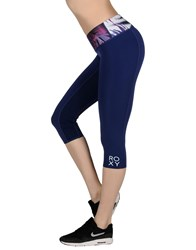 Roxy Trousers Leggings Women Blue