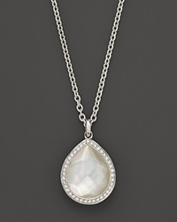 Ippolita Sterling Silver Stella Teardrop Necklace In Mother Of Pearl With Diamonds 16 Multi