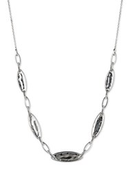 Judith Jack Hammered Ovular Scatter Necklace Silver