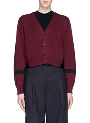Toga Archives Raffia Insert Wool Cardigan Red
