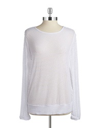 Kensie Cut Out Top White