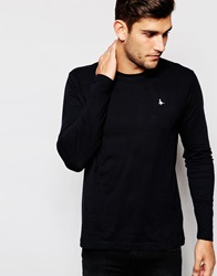 Jack Wills Rosewood T Shirt With Long Sleeves In Black