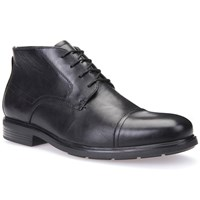 Geox Dublin Leather Boots Black