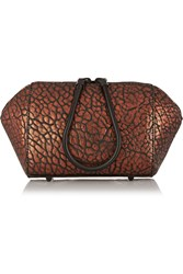 Alexander Wang Chastity Coated Textured Leather Cosmetic Case Metallic