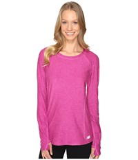 New Balance In Transit Long Sleeve Top Fusion Heather Women's Long Sleeve Pullover Pink