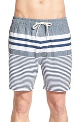 Men's Sperry 'Ship Shape' Stripe Swim Trunks Gunmetal