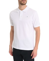 Acne Studios Kolby White Cotton Polo With Front Logo